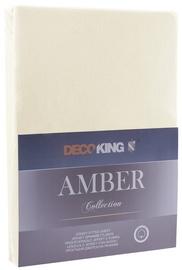 Palags DecoKing Amber, bēša, 90x200 cm, ar gumiju