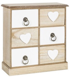 Home4you Vanity Box Hearts 6 27x10xH30cm