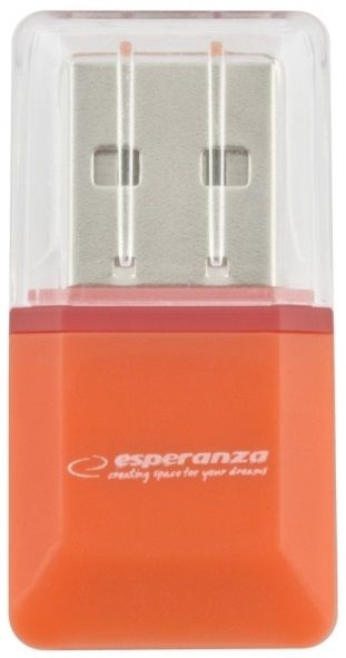 Esperanza EA134O MicroSD Card Reader USB 2.0 Orange