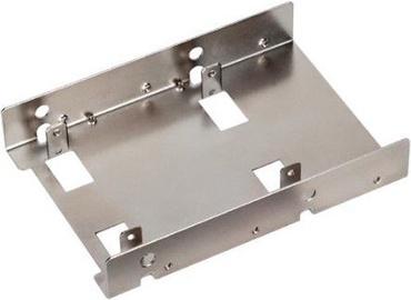"""Адаптер SilverStone SDP08 2x2.5"""" to 3.5"""" Adapter Nickel SST-SDP08"""