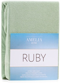 AmeliaHome Ruby Frote Bedsheet 140-160x200 Olive Green 13