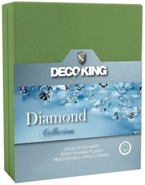 DecoKing Diamond Bedsheet 220x200 Green