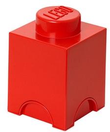 LEGO Storage Brick 1 Knob Red