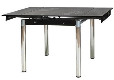 Обеденный стол Signal Meble GD-082 Black, 800-1310x800x750 мм