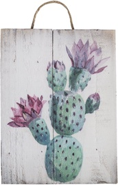 Home4you Wooden Printed Picture Country 15x20cm Cactus 2 83772