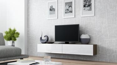 TV staliukas Cama Meble Vigo 180 Latte/White Gloss, 1800x300x400 mm