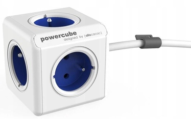Allocacoc PowerCube Extended Type E 1.5m White/Blue