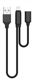 Адаптер Devia Jet Audio Switching Cable For Apple Lightning 20cm Black