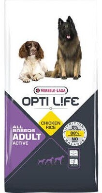 Versele-Laga Opti Life All Breeds Adult Active Chicken & Rice 12.5kg