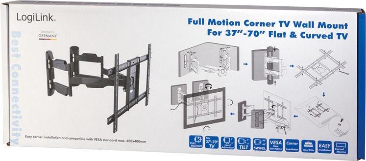 Televizoriaus laikiklis LogiLink TV Wall Corner Mount BP0047