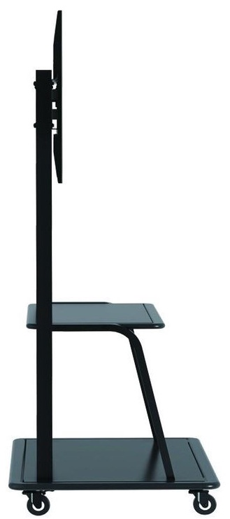 """Techly Multifunction Mobile TV Cart For LED/LCD TV 55-100"""" With Shelf"""