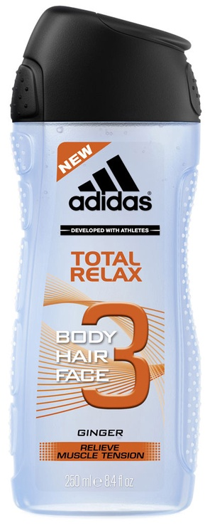 Dušo želė Adidas Total Relax 3in1, 250 ml