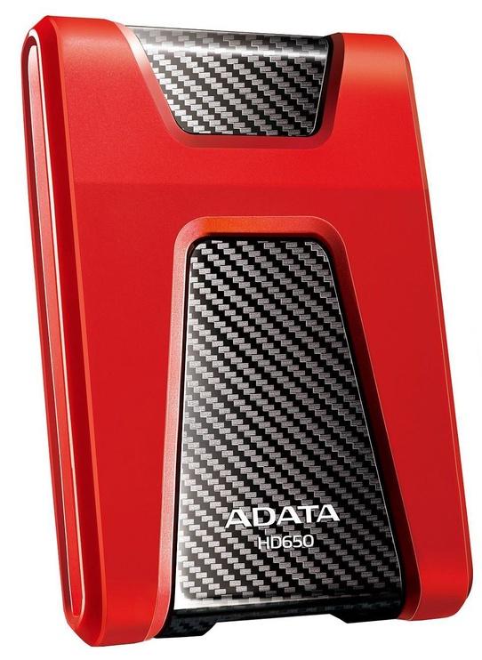 Жесткий диск ADATA HD650, HDD, 2 TB, красный