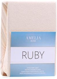 Palags AmeliaHome Ruby, smilškrāsas, 200x200 cm, ar gumiju