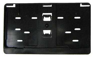 SN Car Numberplate Holder Square Black