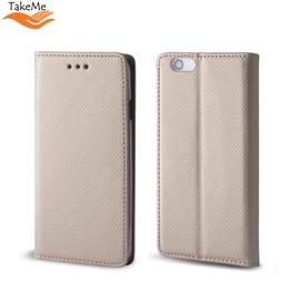 TakeMe Smart Magnetic Fix Book Case LG K40 / K12 Plus / X4 (2019) Gold