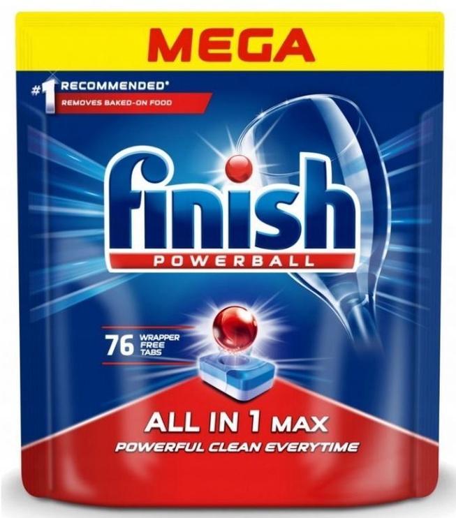 Trauku mazgājamās mašīnas kapsulas Finish All In 1 Max Powerball, 76 gab.