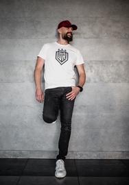 Футболка с короткими рукавами Dinamo Rīga Men T-Shirt White/Black L