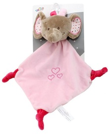 Axiom Cuddly Toy With Rattle Milus Elephant Pink 19x19cm