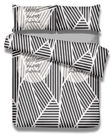 Gultas veļas komplekts AmeliaHome Averi Sweet Home, balta/melna, 260x220 cm/50x75 cm