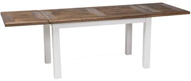 Pusdienu galds Signal Meble Poprad II Brown/White, 1400x500x800 mm
