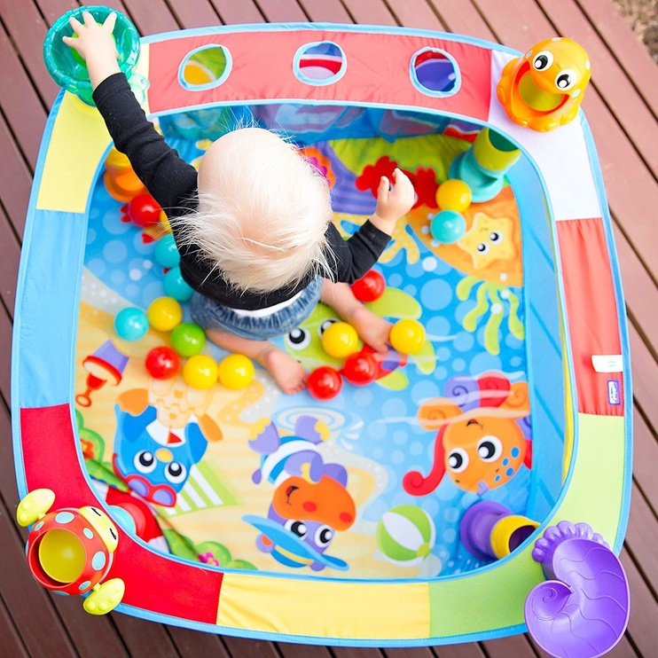 Lavinamasis kilimėlis Playgro Pop And Drop Activity Ball Gym 0186366