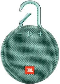 Belaidė kolonėlė JBL Clip 3 Teal, 3 W
