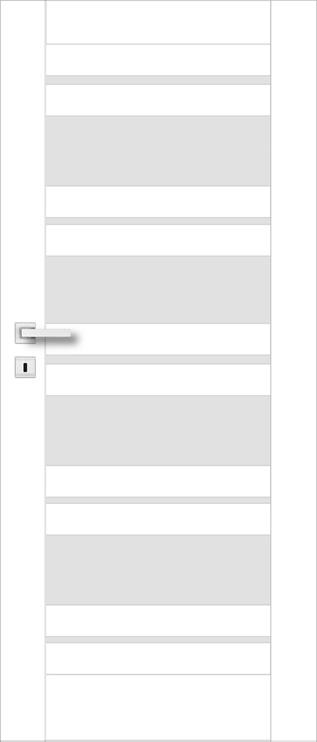 Полотно межкомнатной двери PerfectDoor EVIA 01, белый, 203.5 см x 74.4 см x 4 см
