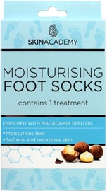 Skin Academy Moisturising Foot Socks Macadamia Nut 1pcs