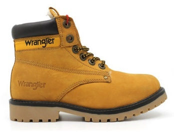 Wrangler Hunter Leather Winter Boots Camel Brown 42