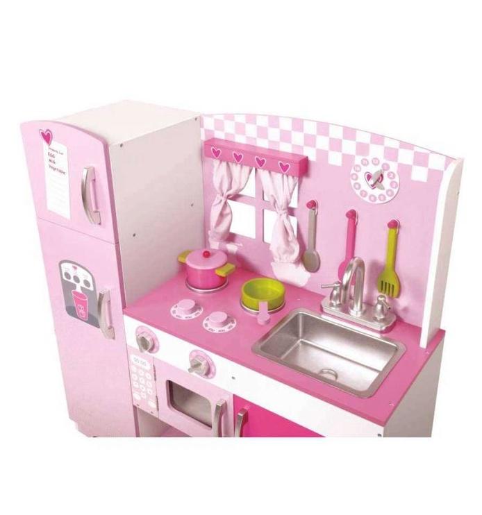 Žaislinė medinė virtuvė 91 x 30.5 x 85 cm