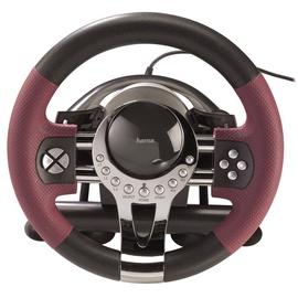 Žaidimų vairas su pedalais Hama Thunder V5, PC, PS3