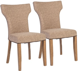 Home4you Chairs Manor 2pcs Light Grey