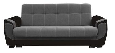 Диван-кровать Idzczak Meble Delux Black/Dark Grey, 237 x 93 x 95 см