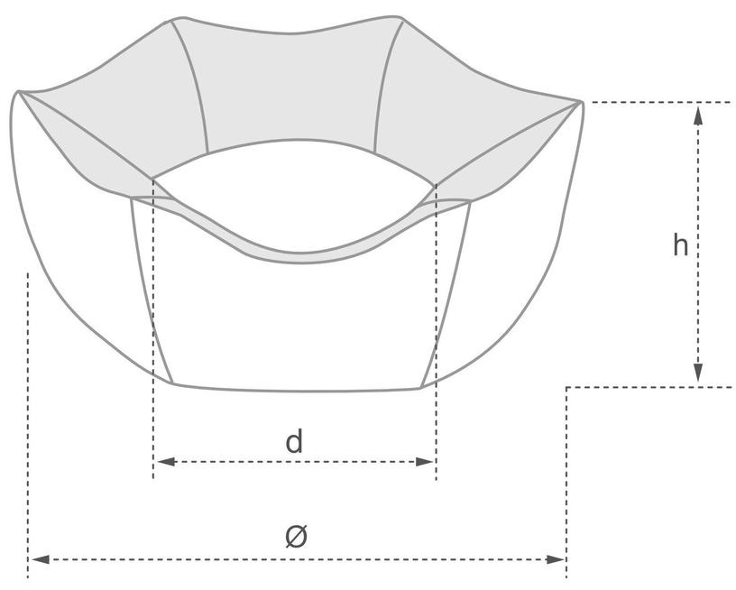 Лежанка Amiplay Palermo Crown Bed M 58x23cm Light Gray