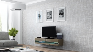 TV galds Cama Meble Vigo New 140 Latte/Latte Gloss, 1400x300x1400 mm