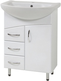 Sanservis LR-60 Duga Standart Cabinet with Basin Libra-60 White 60x84.6x45cm