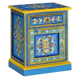 Ночной столик VLX Bedside Cabinet 244834, синий/многоцветный, 30x40x50 см
