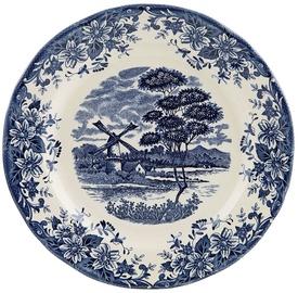 Claytan Windmill Dinner Plate 26cm Blue