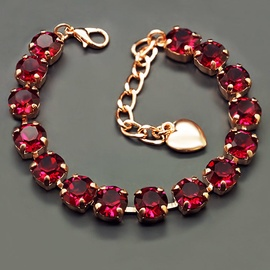 Diamond Sky Bracelet Classic Ruby With Swarovski Crystals