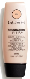 Gosh Foundation Plus+ Cover + Conceal SPF15 30ml 6