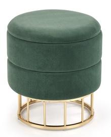 Пуф Halmar Minty Dark Green/Gold, 37x37x41 см