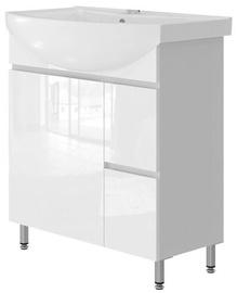 Vento Monika Bathroom Cabinet 75 White