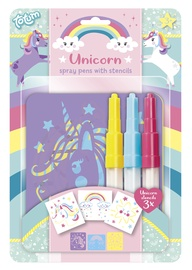 Totum Unicorn Spray Pens With Stencils