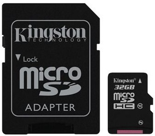 Kingston 32GB Micro SDHC Class 10 + SD adapter
