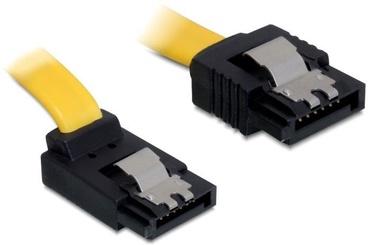 Delock Cable SATA / SATA angled Yellow 0.3 m