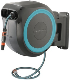 Gardena Wall Mounting Hose Box Roll-Up L Turquoise