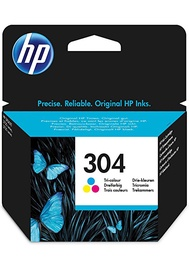 HP 304 Tri-Colour Original Ink Cartridge Cyan Magenta Yellow 2 ml
