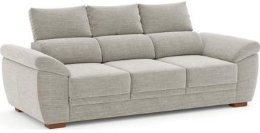 Dīvāns Home4you 3-Seater Argos, gaiši pelēka, 219 x 90 x 96 cm