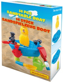 Smėlio žaislų rinkinys Eddy Toys Boat, 14 vnt.
